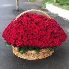 Корзина цветов из 1001 розы