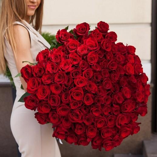 Букет из 101 красной розы № 356