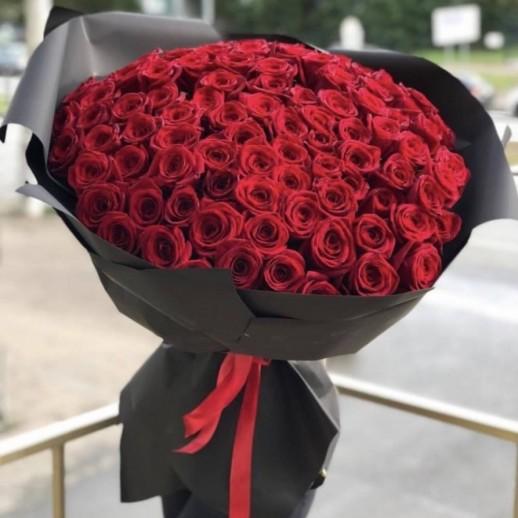 Букет из 101 красной розы № 358