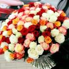 Букет из 101 розы разного цвета № 359