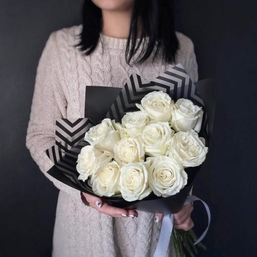 Букет из 11 белых роз № 366