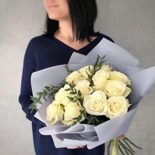 Букет из 11 белых роз № 310