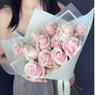 Букет из 13 розовых роз № 311