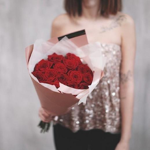 Букет из 15 красных роз № 314