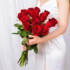 Букет из 15 красных роз № 317