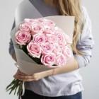 Букет из 19 розовых роз № 321