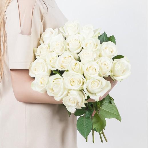 Букет из 21 белой розы № 323