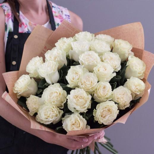 Букет из 25 белых роз № 328