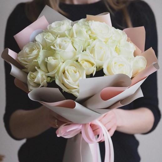 Букет из 29 белых роз № 336