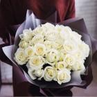 Букет из 29 белых роз № 337