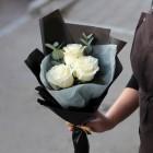 Букет из 3 белых роз № 286