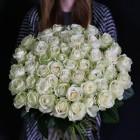 Букет из 51 белой розы № 343