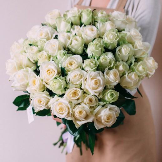 Букет из 51 белой розы № 344