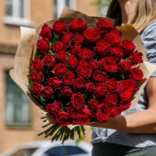 Букет из 51 красной розы № 346