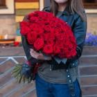Букет из 51 красной розы № 347