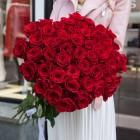 Букет из 51 красной розы № 348