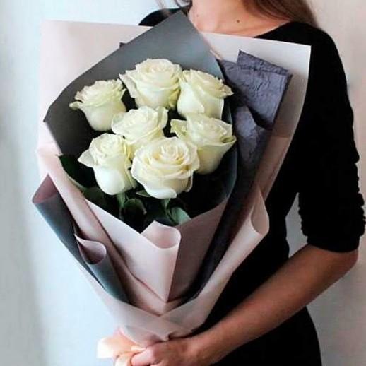 Букет из 7 белых роз № 288