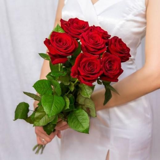 Букет из 7 красных роз № 291