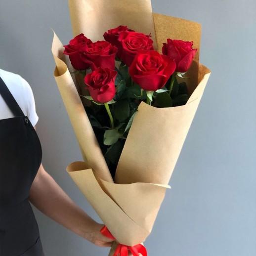 Букет из 7 красных роз № 292