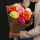 Букет из 7 разных роз № 293