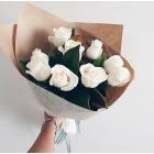 Букет из 9 белых роз № 296