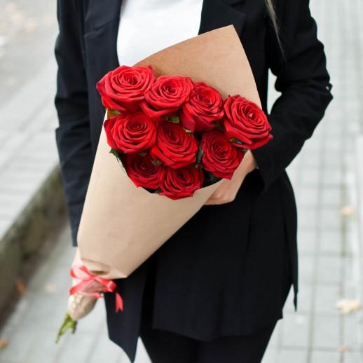 Букет из 9 красных роз № 297