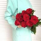Букет из 9 красных роз № 298