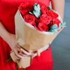Букет из 9 красных роз № 299