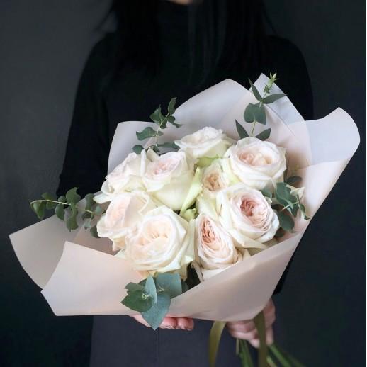 Букет из 9 белых роз № 365