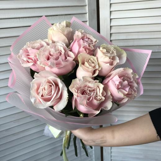 Букет из 9 розовых роз № 363