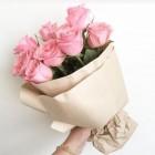 Букет из 9 розовых роз № 364