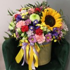 Коробка с цветами № 1