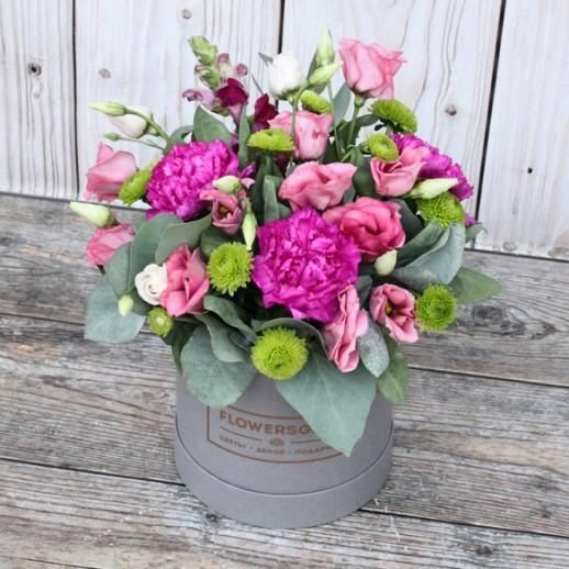 Коробка с цветами №139