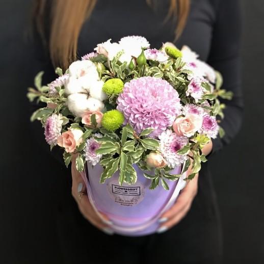 Коробка с цветами №154