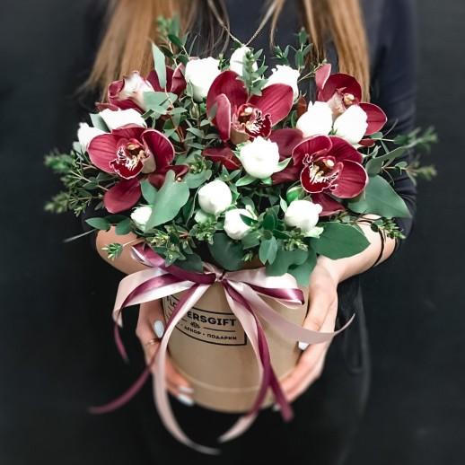 Коробка с цветами №158