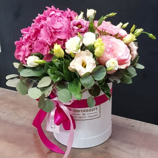 Коробка с цветами №162