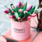 Коробка из 25 тюльпанов №201