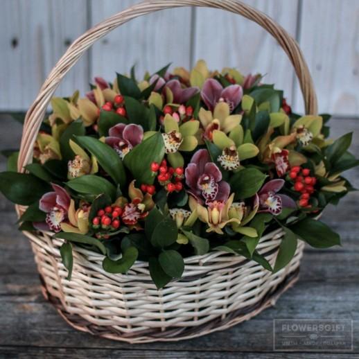 Корзинка из орхидей№209