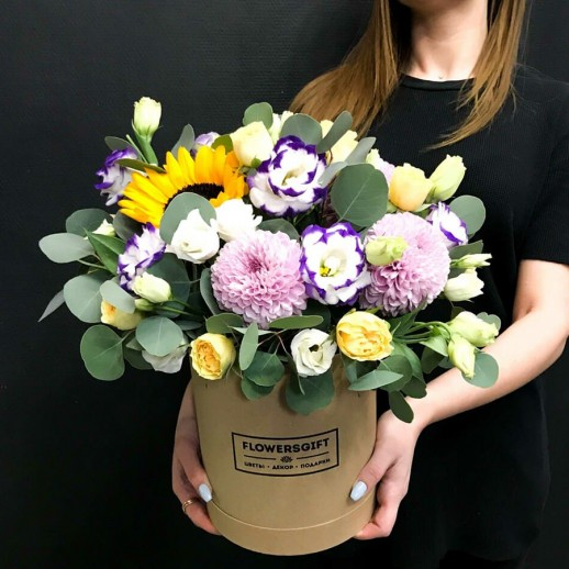 Коробка с цветами №21