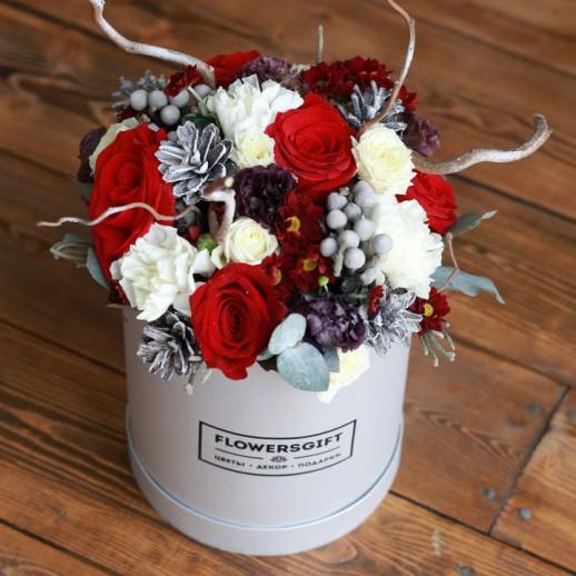 Коробка с цветами №211