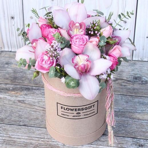 Коробка с цветами №215