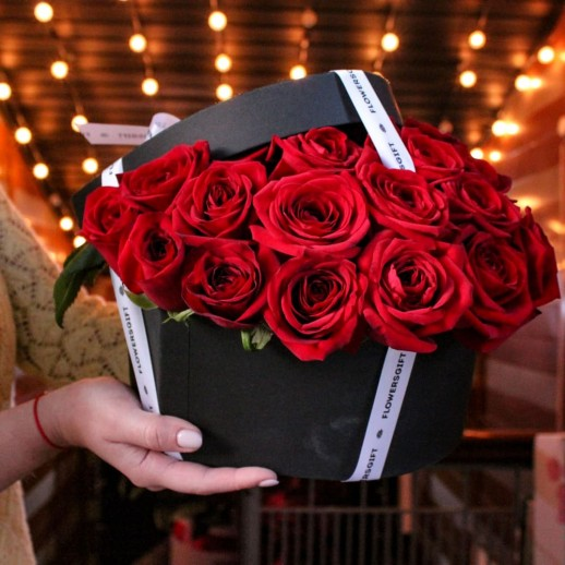 Сердце из 25 роз №242