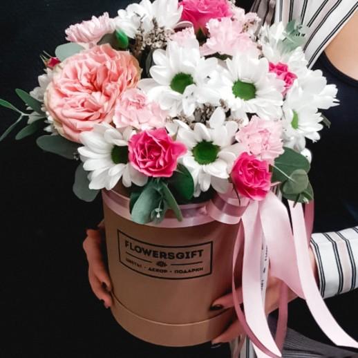 Коробка с цветами №257