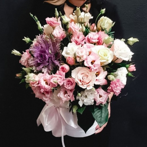 Коробка с цветами №262