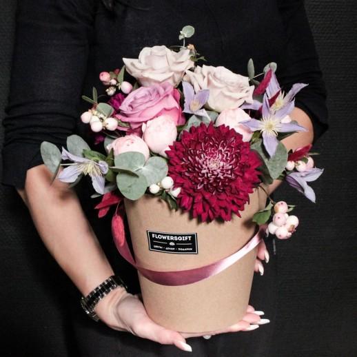 Коробка с цветами №271