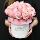 Коробка с 31 розовой розой
