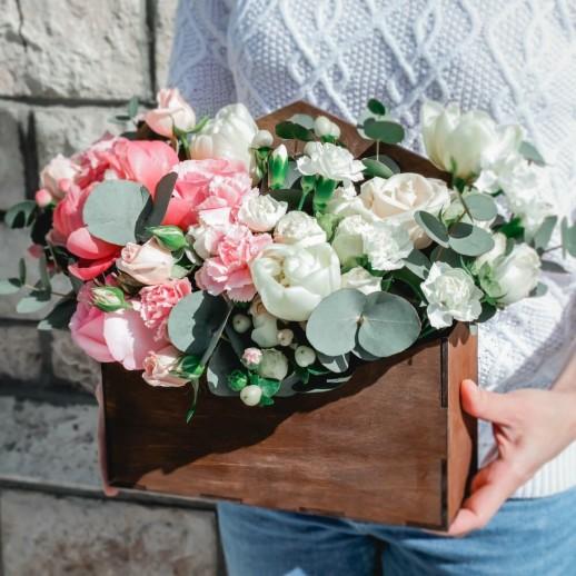 Коробка с цветами №41