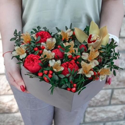 Сердце с цветами №54