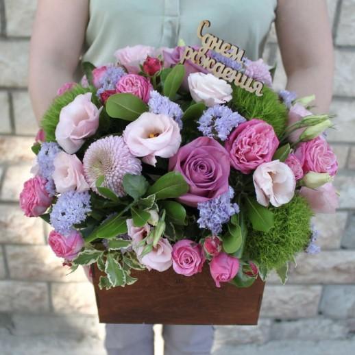 Коробка с цветами №56