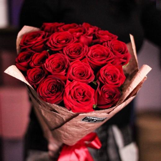Букет из 19 красных роз №628